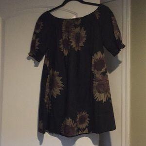 Free people sunflower tunic/mini dress